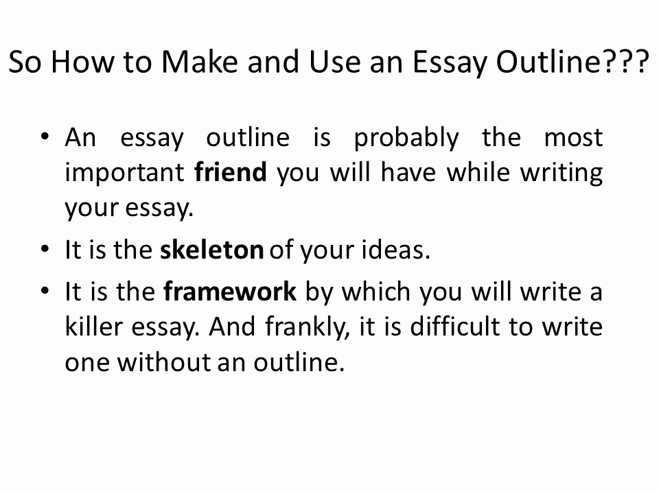 How to Outline An Essay Unique Lecture 17 Essay Writing Ppt Video Online
