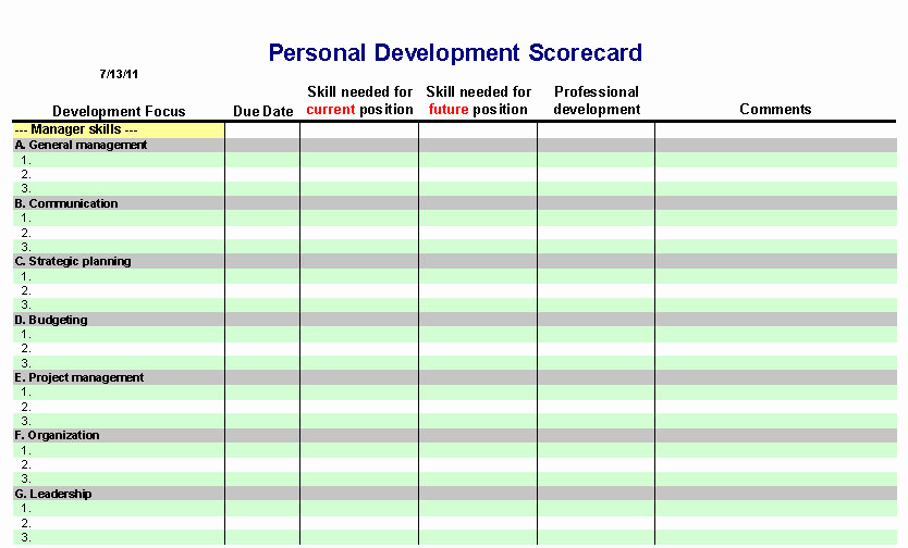 Individual Development Plan Template Elegant 6 Personal Development Plan Templates Excel Pdf formats