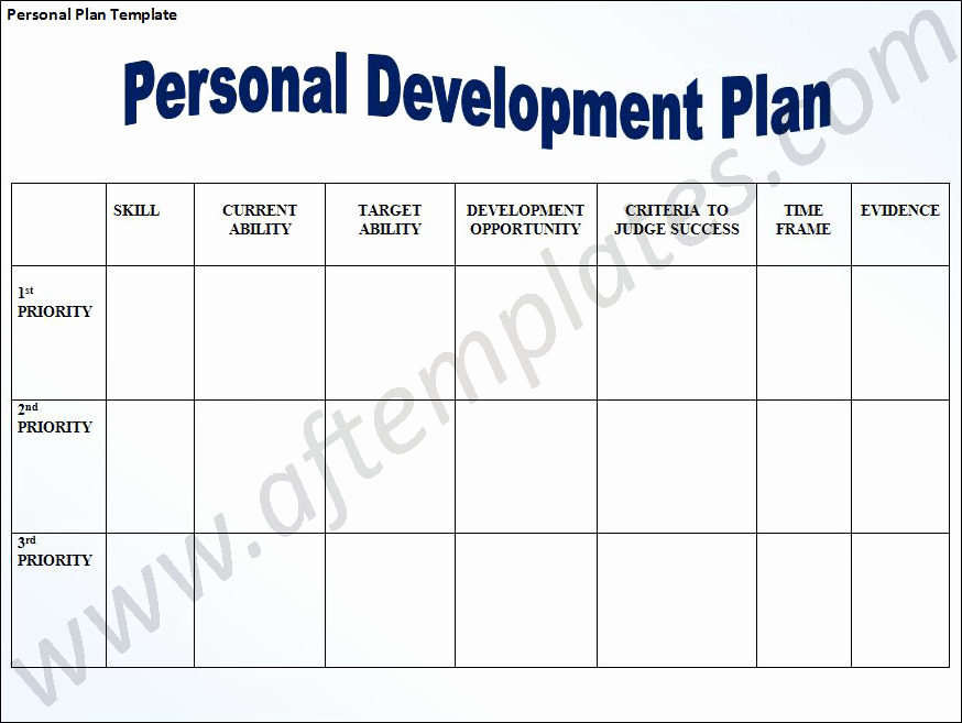 Individual Development Plan Template Elegant Personal Development Plan Template