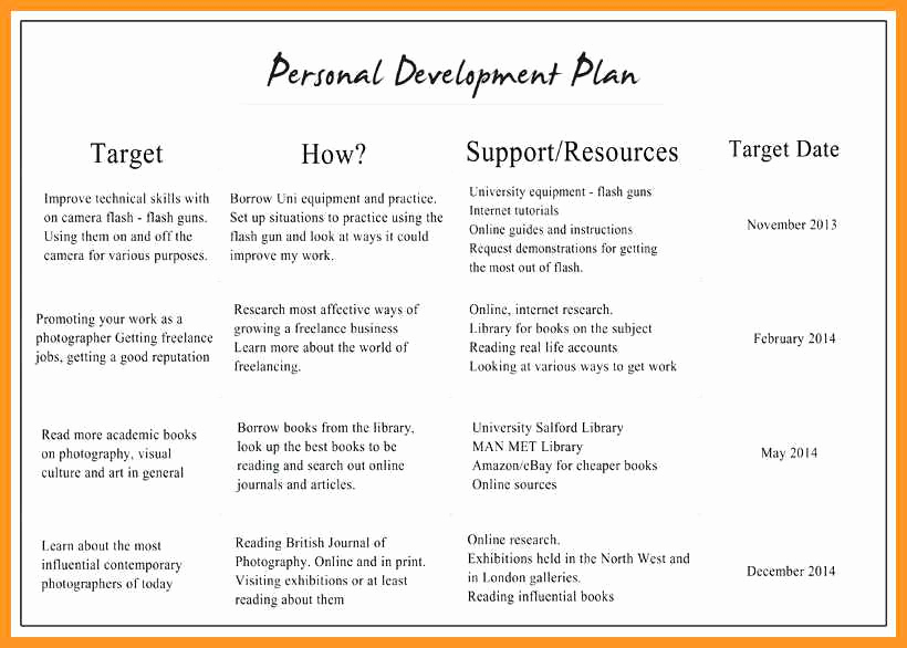 Individual Development Plan Template Inspirational 10 11 Professional Development Plan Samples