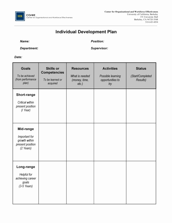 employee career development template