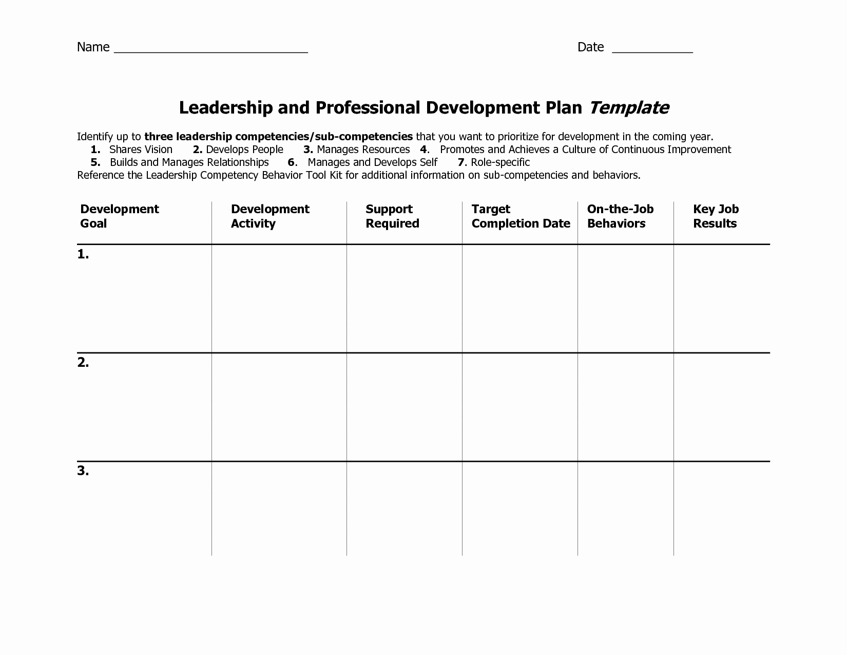 Individual Development Plan Template New Individual Development Plan Template Word Google Search