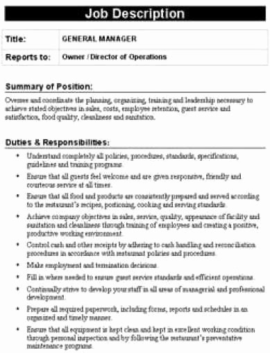 30 Job Description Template Word | Tate Publishing News