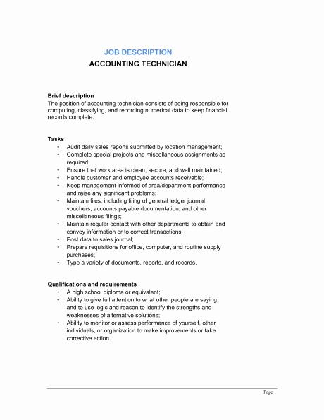 Job Description Template Word New 9 Job Description Templates Word Excel Pdf formats