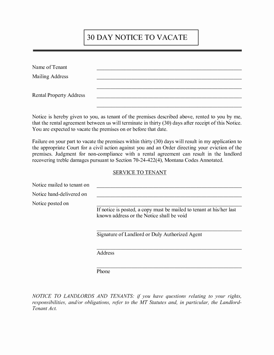 Landlord Notice to Vacate Inspirational Landlord 30 Day Notice Letter Examples Free Tenant to