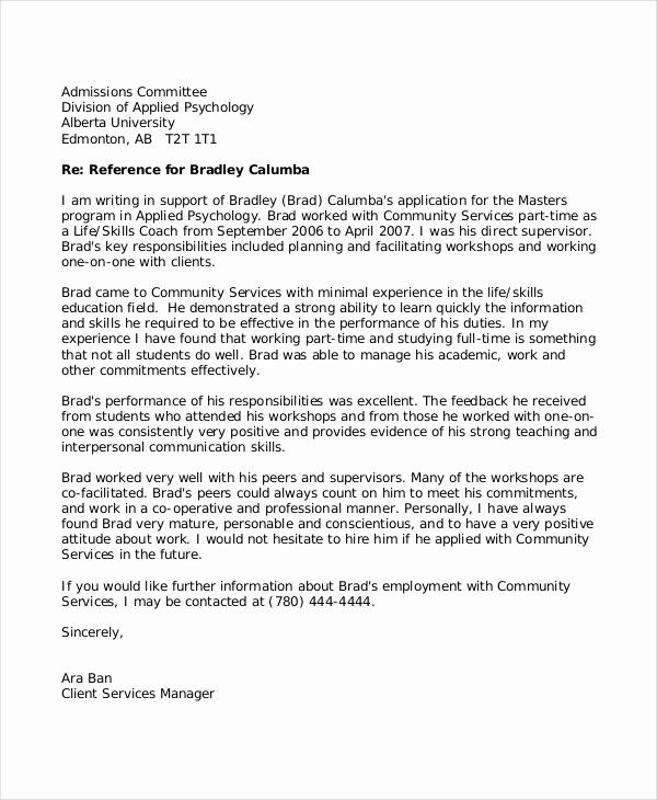 Letters Of Recommendation for Teachers Lovely 8 Reference Letter for Teacher Templates Free Sample