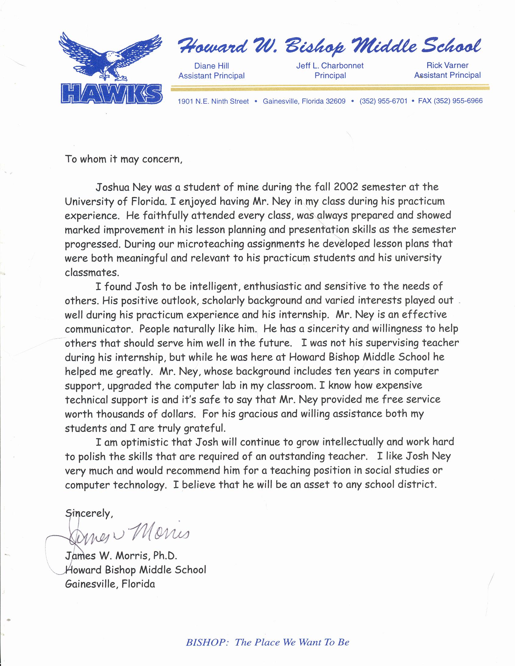 Letters Of Recommendation for Teachers Lovely Sample Letter Of Re Mendation for Teacher