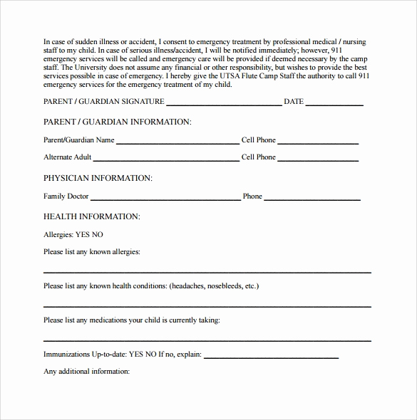 Medical Consent form Template Best Of 14 Medical Consent form Templates – Free Samples