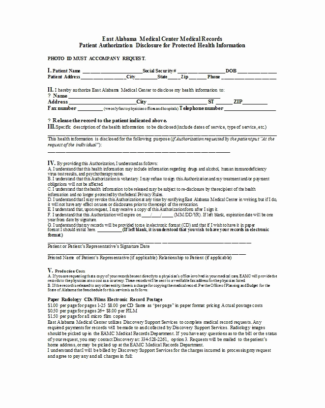 Medical Release form Template Beautiful 30 Medical Release form Templates Template Lab