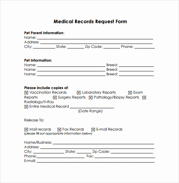 Medical Release form Template Best Of Medical Records Release form 10 Free Samples Examples