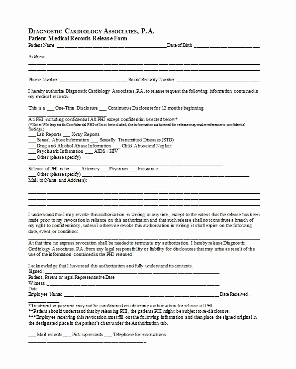 Medical Release form Template Fresh 30 Medical Release form Templates Template Lab