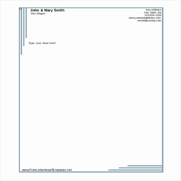 Microsoft Word Letterhead Template Awesome 35 Free Download Letterhead Templates In Microsoft Word