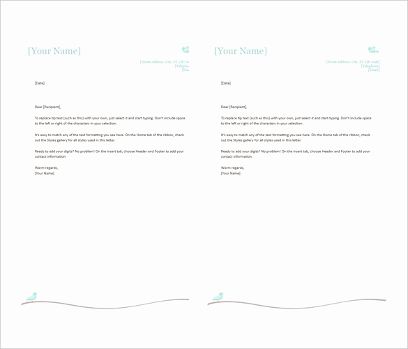 Microsoft Word Letterhead Template Fresh 35 Free Download Letterhead Templates In Microsoft Word