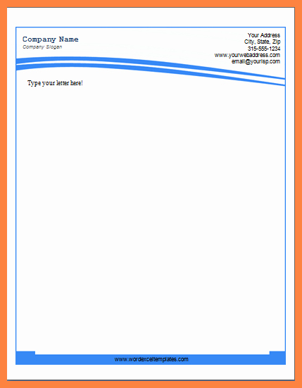 Microsoft Word Letterhead Template Lovely 8 Letterhead Template Word 2007