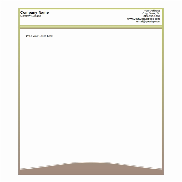 Microsoft Word Letterhead Template New Free Printable Business Letterhead Templates Letter Of