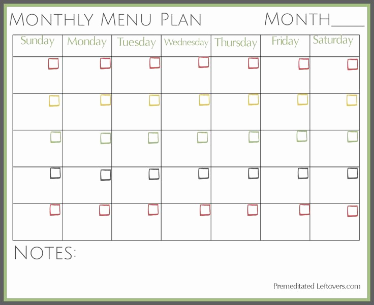Monthly Meal Planner Template Beautiful 1000 Ideas About Monthly Menu On Pinterest