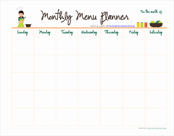 Monthly Meal Planner Template Beautiful 31 Menu Planner Templates Free Sample Example format
