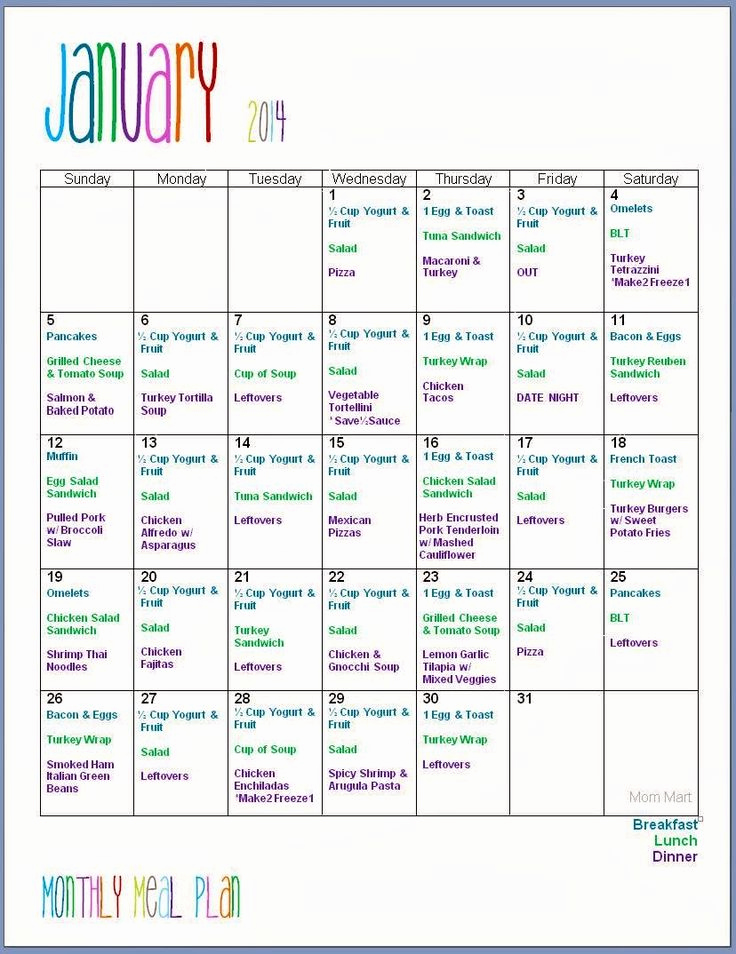 Monthly Meal Planner Template Beautiful Best 25 Monthly Meal Planning Ideas On Pinterest