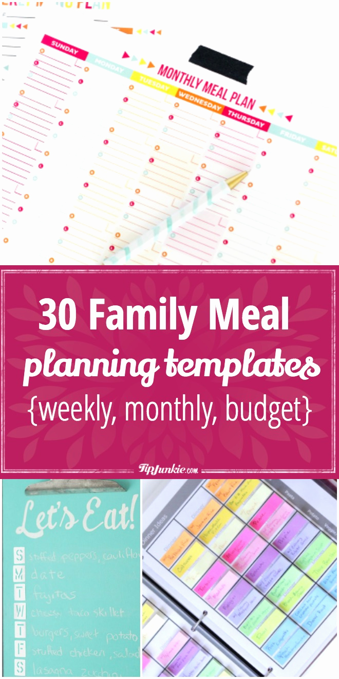 Monthly Meal Planner Template Inspirational 30 Family Meal Planning Templates Weekly Monthly Bud