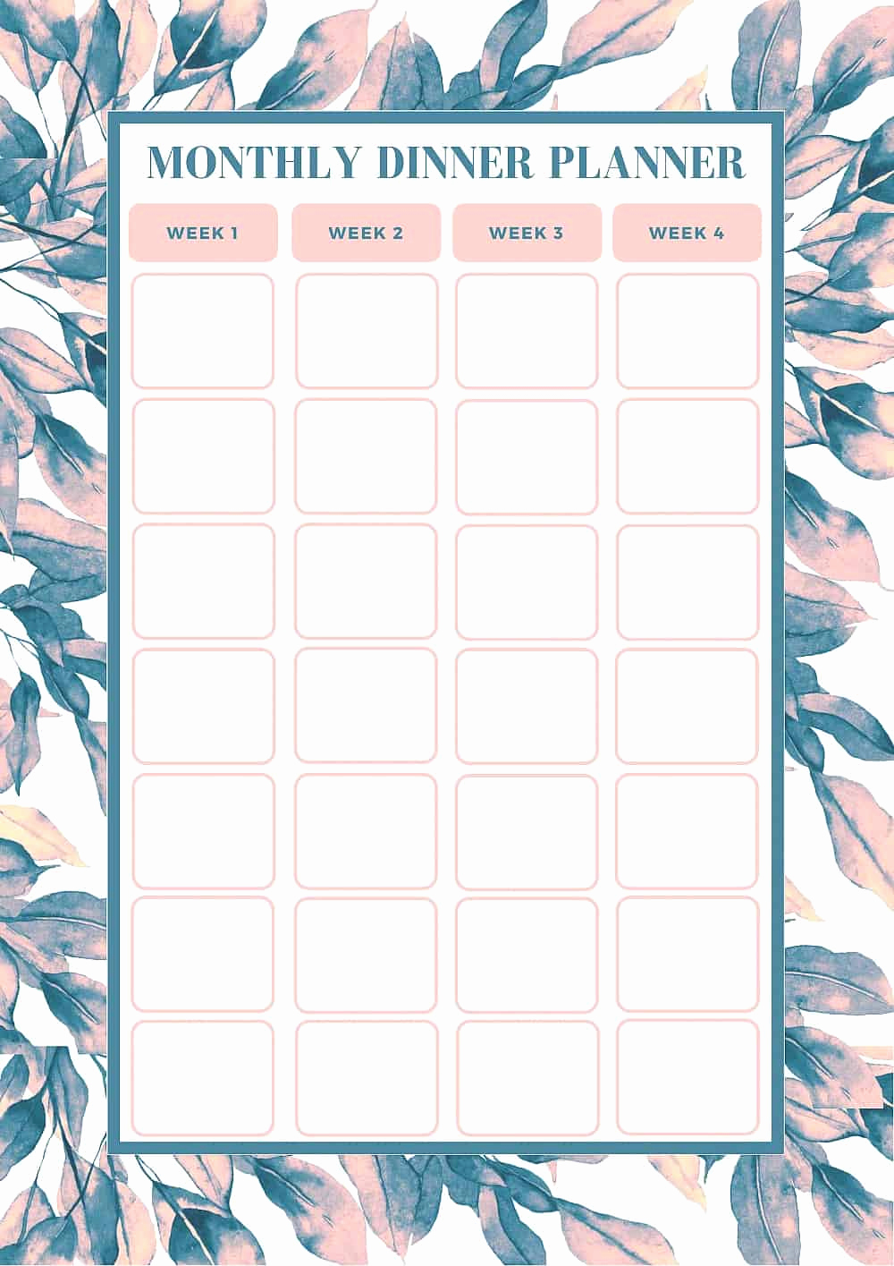 Monthly Meal Planner Template Inspirational Free Monthly Meal Planning Template Bake Play Smile