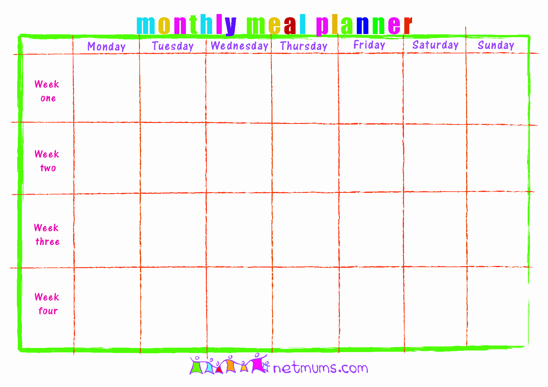 photo relating to Printable Monthly Meal Planner identify 30 Every month Dinner Planner Template Tate Posting Information