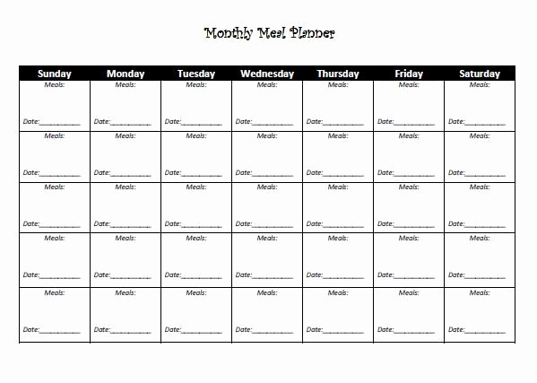 Monthly Meal Planner Template Unique Best 25 Monthly Meal Planner Ideas On Pinterest
