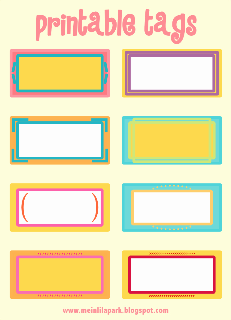 Name Tag Template Free Printable Beautiful Free Printable Cheerfully Colored Tags – Ausdruckbare