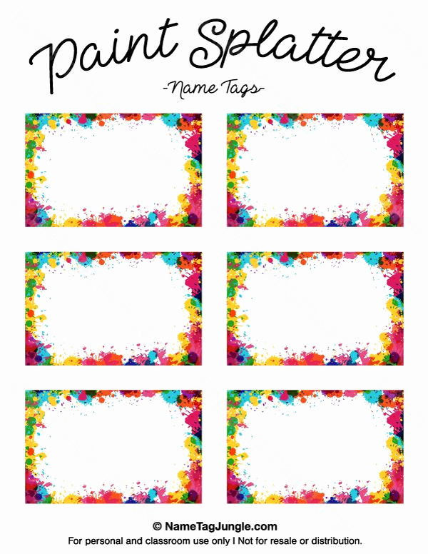 Name Tag Template Free Printable Elegant Pin by Muse Printables On Name Tags at Nametagjungle