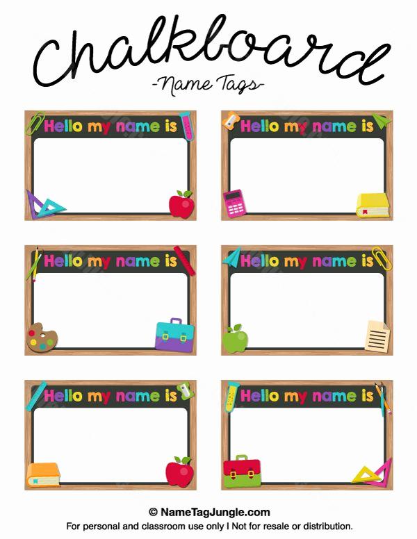 Name Tag Template Free Printable Elegant the 25 Best Printable Name Tags Ideas On Pinterest
