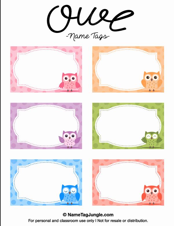 Name Tag Template Free Printable Inspirational Free Printable Owl Name Tags the Template Can Also Be