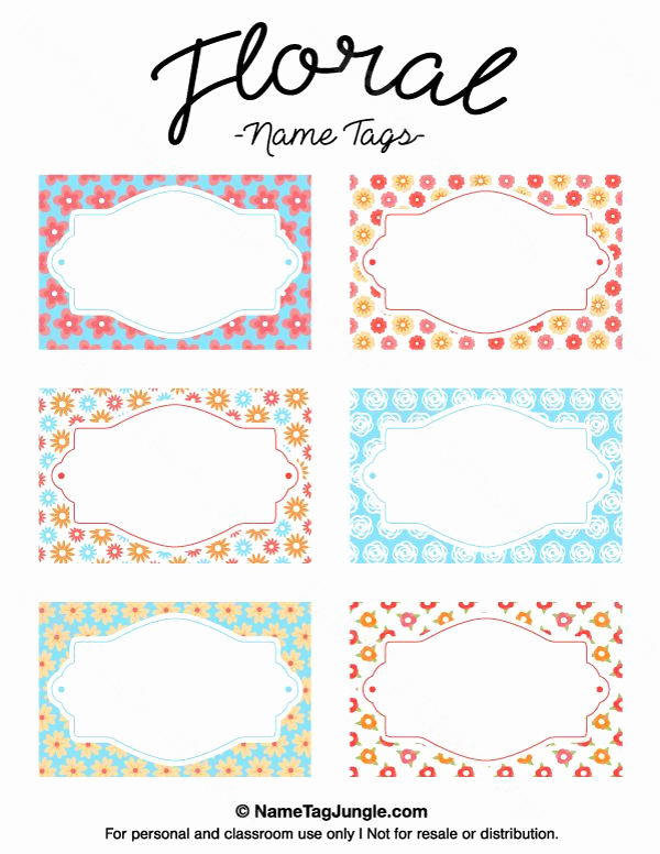 Name Tag Template Free Printable Unique 1000 Ideas About Name Tag Templates On Pinterest