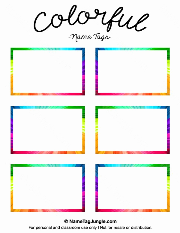 Name Tag Template Free Printable Unique 17 Best Ideas About Name Tag Templates On Pinterest