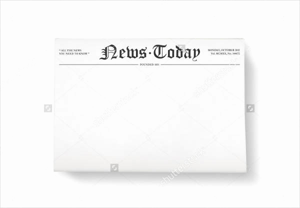 Newspaper Front Page Template Best Of 52 Printable Newspaper Templates Psd Apple Pages