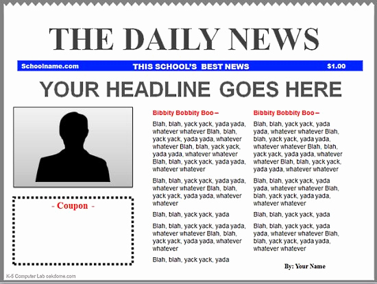 Newspaper Front Page Template Elegant Powerpoint Newspaper Templates