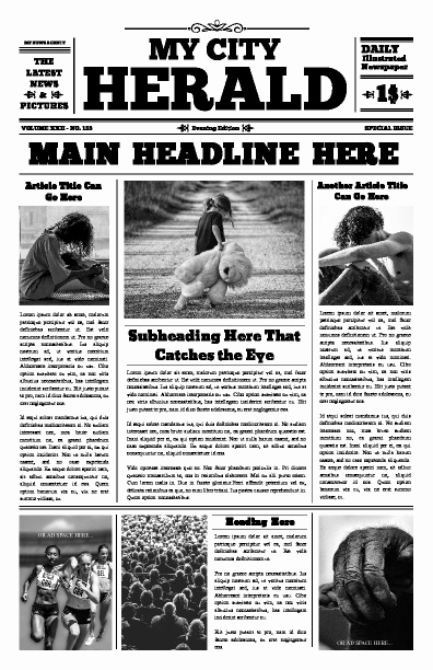Newspaper Front Page Template Inspirational Free Newspaper Templates Print and Digital