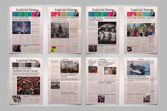 Newspaper Front Page Template Lovely 12 Newspaper Front Page Templates – Free Sample Example