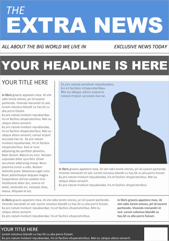 Newspaper Front Page Template Lovely Newspaper Front Page Template