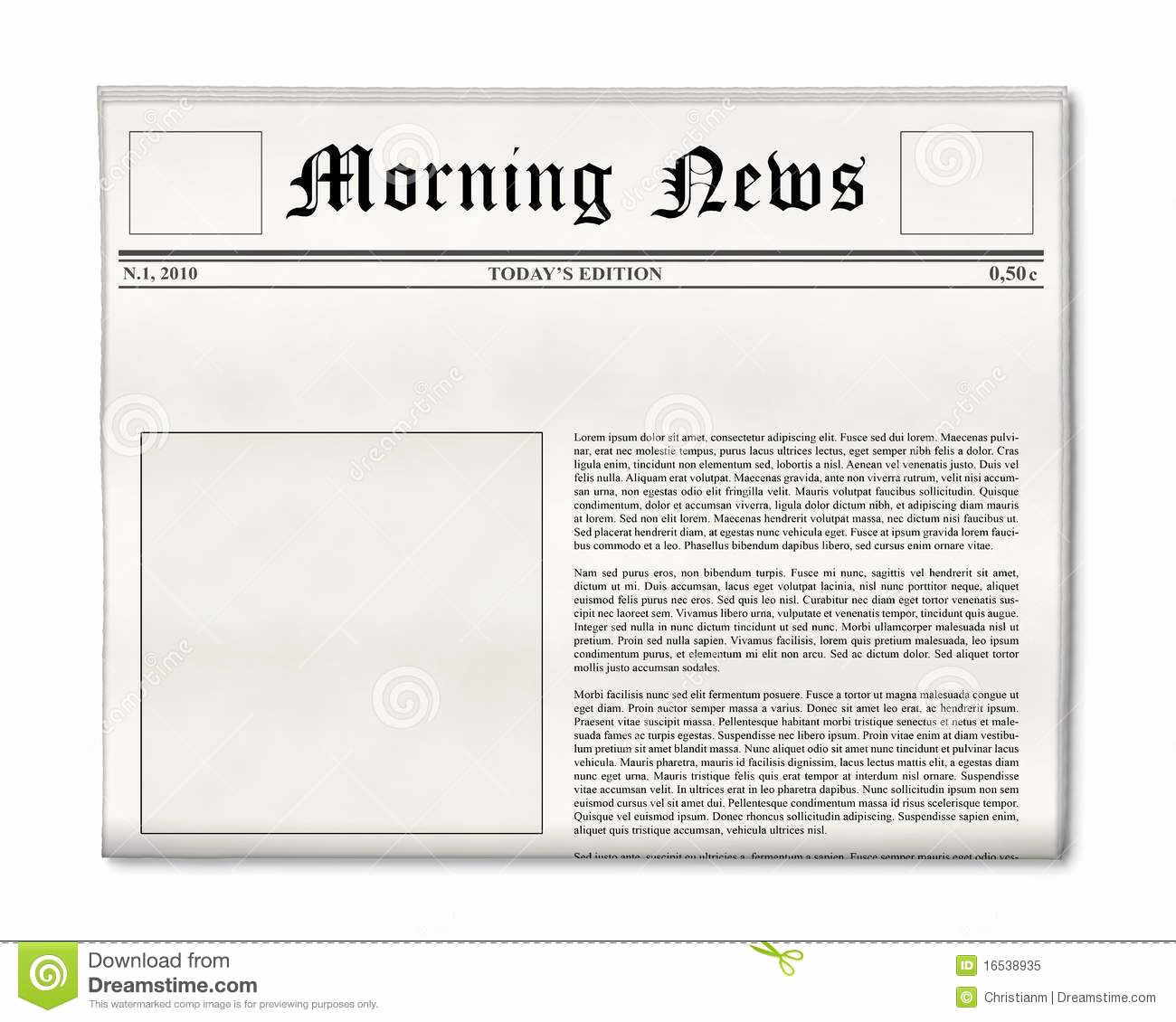 Newspaper Front Page Template Lovely Newspaper Headline and Template Royalty Free Stock