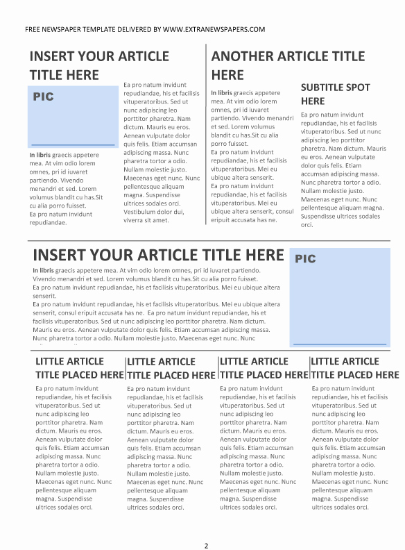 Newspaper Front Page Template New Best S Of Newspaper Front Page format Editable