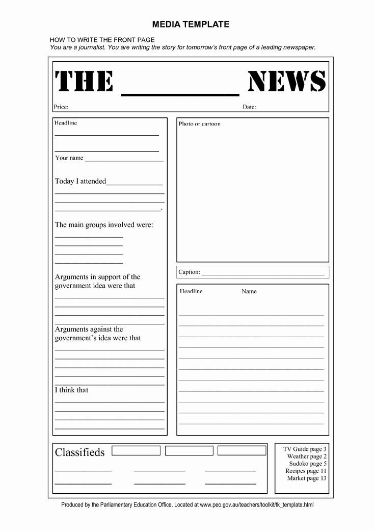 Newspaper Front Page Template Unique Free Tag Template