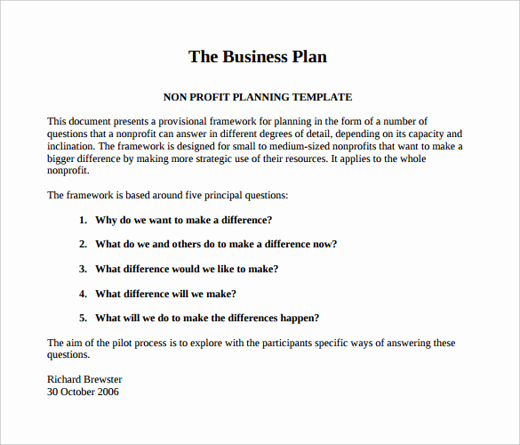 30 Non Profit Business Plan Tate Publishing News