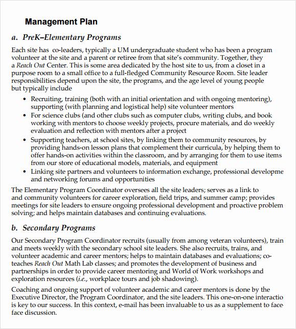 Non Profit Business Plan New 11 Non Profit Business Plan Samples