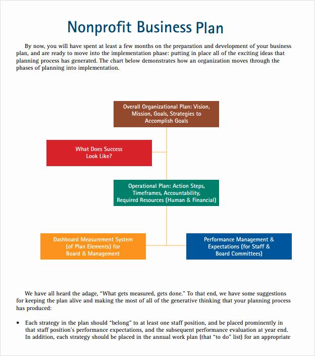 Non Profit Business Plan Unique Non Profit Business Plan Template 7 Download Free