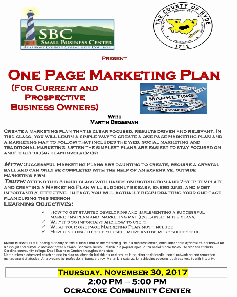One Page Marketing Plan Beautiful Business Classes On Marketing and Using Video On Tap for