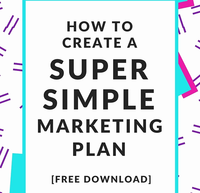 One Page Marketing Plan Fresh Free E Page Marketing Plan Nell Casey Creative
