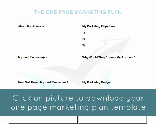 One Page Marketing Plan Fresh the E Page Marketing Plan Mymarketormymarketor