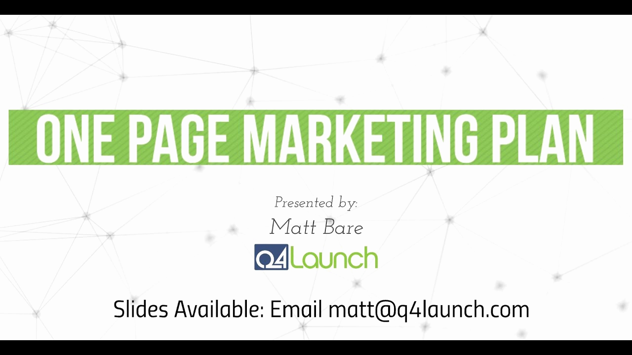 One Page Marketing Plan Luxury the E Page Marketing Plan Guaranteed to Increase