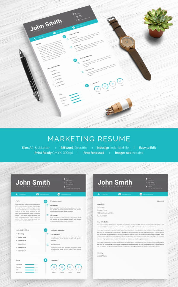 One Page Marketing Plan New 16 E Page Resume Templates
