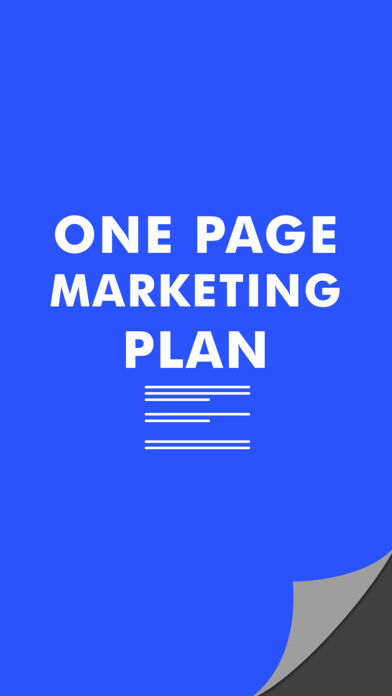 One Page Marketing Plan New E Page Marketing Plan by Cosey Management