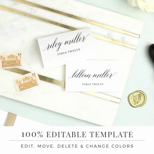 Place Card Template Word Awesome Wedding Place Card Template Printable Escort Cards